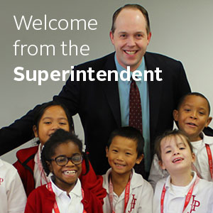 Welcome From The Superintendent